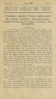 Przyjdź Królestwo Twoje Eucharystyczne. R. 6, nr 2 (1900)