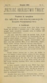 Przyjdź Królestwo Twoje Eucharystyczne. R. 6, nr 8 (1900)