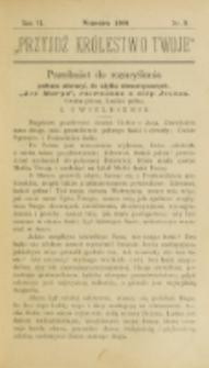 Przyjdź Królestwo Twoje Eucharystyczne. R. 6, nr 9 (1900)