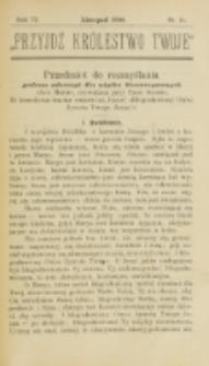 Przyjdź Królestwo Twoje Eucharystyczne. R. 6, nr 11 (1900)
