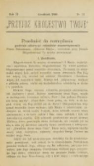 Przyjdź Królestwo Twoje Eucharystyczne. R. 6, nr 12 (1900)