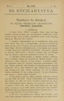 SS. Eucharistia. R. 5, nr 5 (1899)