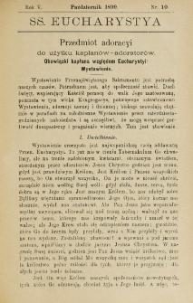 SS. Eucharistia. R. 5, nr 10 (1899)