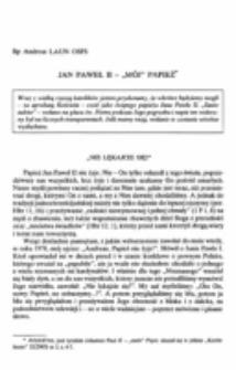 """Jan Paweł II - """"mój Papież""""."""