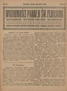 Wiadomości Parafji Św. Florjana przy Kościele Serca Jezusa za Zezwoleniem Władzy Duchownej Królowi Wieków Nieśmiertelnemu Cześć i Chwała na Wieki Wieków!. R. 2, nr 2 (1919)