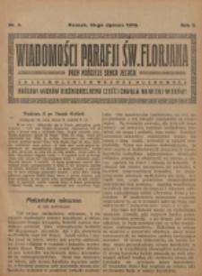 Wiadomości Parafji Św. Florjana przy Kościele Serca Jezusa za Zezwoleniem Władzy Duchownej Królowi Wieków Nieśmiertelnemu Cześć i Chwała na Wieki Wieków!. R. 2, nr 3 (1919)