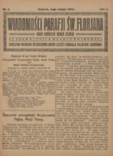 Wiadomości Parafji Św. Florjana przy Kościele Serca Jezusa za Zezwoleniem Władzy Duchownej Królowi Wieków Nieśmiertelnemu Cześć i Chwała na Wieki Wieków!. R. 2, nr 5 (1919)