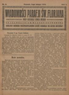 Wiadomości Parafji Św. Florjana przy Kościele Serca Jezusa za Zezwoleniem Władzy Duchownej Królowi Wieków Nieśmiertelnemu Cześć i Chwała na Wieki Wieków!. R. 2, nr 6 (1919)