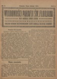 Wiadomości Parafji Św. Florjana przy Kościele Serca Jezusa za Zezwoleniem Władzy Duchownej Królowi Wieków Nieśmiertelnemu Cześć i Chwała na Wieki Wieków!. R. 2, nr 7 (1919)