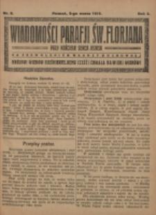 Wiadomości Parafji Św. Florjana przy Kościele Serca Jezusa za Zezwoleniem Władzy Duchownej Królowi Wieków Nieśmiertelnemu Cześć i Chwała na Wieki Wieków!. R. 2, nr 9 (1919)