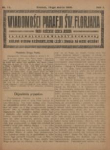 Wiadomości Parafji Św. Florjana przy Kościele Serca Jezusa za Zezwoleniem Władzy Duchownej Królowi Wieków Nieśmiertelnemu Cześć i Chwała na Wieki Wieków!. R. 2, nr 11 (1919)