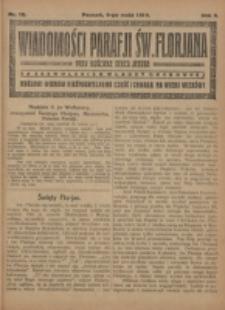Wiadomości Parafji Św. Florjana przy Kościele Serca Jezusa za Zezwoleniem Władzy Duchownej Królowi Wieków Nieśmiertelnemu Cześć i Chwała na Wieki Wieków!. R. 2, nr 18 (1919)
