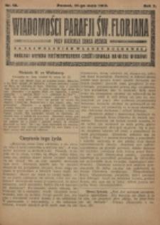 Wiadomości Parafji Św. Florjana przy Kościele Serca Jezusa za Zezwoleniem Władzy Duchownej Królowi Wieków Nieśmiertelnemu Cześć i Chwała na Wieki Wieków!. R. 2, nr 19 (1919)