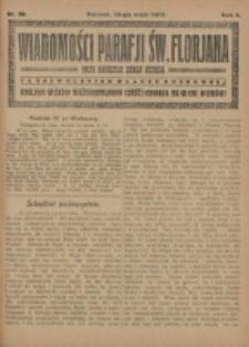 Wiadomości Parafji Św. Florjana przy Kościele Serca Jezusa za Zezwoleniem Władzy Duchownej Królowi Wieków Nieśmiertelnemu Cześć i Chwała na Wieki Wieków!. R. 2, nr 20 (1919)
