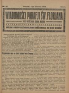 Wiadomości Parafji Św. Florjana przy Kościele Serca Jezusa za Zezwoleniem Władzy Duchownej Królowi Wieków Nieśmiertelnemu Cześć i Chwała na Wieki Wieków!. R. 2 (1919)