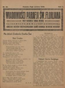 Wiadomości Parafji Św. Florjana przy Kościele Serca Jezusa za Zezwoleniem Władzy Duchownej Królowi Wieków Nieśmiertelnemu Cześć i Chwała na Wieki Wieków!. R. 2, nr 23 (1919)