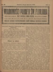 Wiadomości Parafji Św. Florjana przy Kościele Serca Jezusa za Zezwoleniem Władzy Duchownej Królowi Wieków Nieśmiertelnemu Cześć i Chwała na Wieki Wieków!. R. 2, nr 25 (1919)