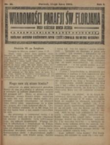 Wiadomości Parafji Św. Florjana przy Kościele Serca Jezusa za Zezwoleniem Władzy Duchownej Królowi Wieków Nieśmiertelnemu Cześć i Chwała na Wieki Wieków!. R. 2, nr 30 (1919)