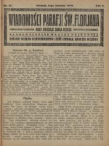 Wiadomości Parafji Św. Florjana przy Kościele Serca Jezusa za Zezwoleniem Władzy Duchownej Królowi Wieków Nieśmiertelnemu Cześć i Chwała na Wieki Wieków!. R. 2, nr 31 (1919)