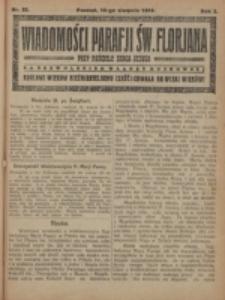 Wiadomości Parafji Św. Florjana przy Kościele Serca Jezusa za Zezwoleniem Władzy Duchownej Królowi Wieków Nieśmiertelnemu Cześć i Chwała na Wieki Wieków!. R. 2, nr 32 (1919)