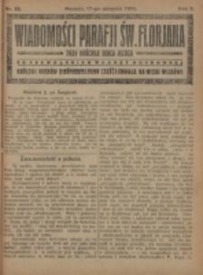 Wiadomości Parafji Św. Florjana przy Kościele Serca Jezusa za Zezwoleniem Władzy Duchownej Królowi Wieków Nieśmiertelnemu Cześć i Chwała na Wieki Wieków!. R. 2, nr 33 (1919)