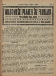 Wiadomości Parafji Św. Florjana przy Kościele Serca Jezusa za Zezwoleniem Władzy Duchownej Królowi Wieków Nieśmiertelnemu Cześć i Chwała na Wieki Wieków!. R. 2, nr 34 (1919)