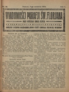 Wiadomości Parafji Św. Florjana przy Kościele Serca Jezusa za Zezwoleniem Władzy Duchownej Królowi Wieków Nieśmiertelnemu Cześć i Chwała na Wieki Wieków!. R. 2, nr 36 (1919)