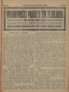 Wiadomości Parafji Św. Florjana przy Kościele Serca Jezusa za Zezwoleniem Władzy Duchownej Królowi Wieków Nieśmiertelnemu Cześć i Chwała na Wieki Wieków!. R. 2, nr 37 (1919)