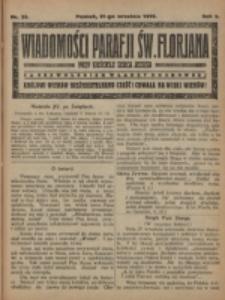 Wiadomości Parafji Św. Florjana przy Kościele Serca Jezusa za Zezwoleniem Władzy Duchownej Królowi Wieków Nieśmiertelnemu Cześć i Chwała na Wieki Wieków!. R. 2, nr 38 (1919)