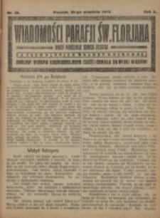 Wiadomości Parafji Św. Florjana przy Kościele Serca Jezusa za Zezwoleniem Władzy Duchownej Królowi Wieków Nieśmiertelnemu Cześć i Chwała na Wieki Wieków!. R. 2, nr 39 (1919)