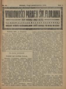 Wiadomości Parafji Św. Florjana przy Kościele Serca Jezusa za Zezwoleniem Władzy Duchownej Królowi Wieków Nieśmiertelnemu Cześć i Chwała na Wieki Wieków!. R. 2, nr 41 (1919)