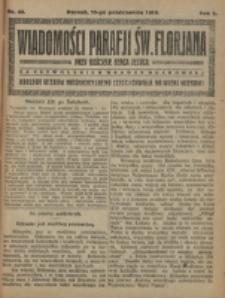 Wiadomości Parafji Św. Florjana przy Kościele Serca Jezusa za Zezwoleniem Władzy Duchownej Królowi Wieków Nieśmiertelnemu Cześć i Chwała na Wieki Wieków!. R. 2, nr 42 (1919)