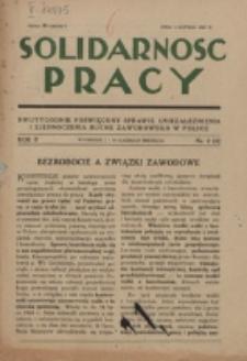 Solidarność Pracy. R. 2, nr 2=4 (1927)