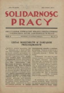 Solidarność Pracy. R. 2, nr 3/4 (1927)