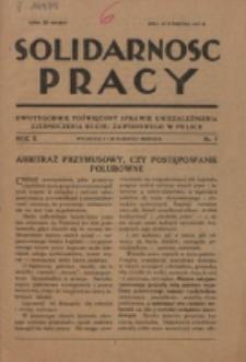 Solidarność Pracy. R. 2, nr 7 (1927)