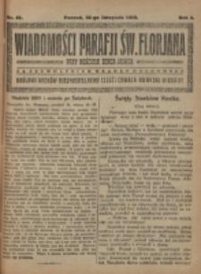 Wiadomości Parafji Św. Florjana przy Kościele Serca Jezusa za Zezwoleniem Władzy Duchownej Królowi Wieków Nieśmiertelnemu Cześć i Chwała na Wieki Wieków!. R. 2, nr 47 (1919)