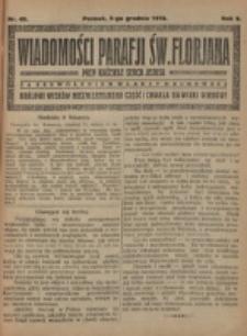 Wiadomości Parafji Św. Florjana przy Kościele Serca Jezusa za Zezwoleniem Władzy Duchownej Królowi Wieków Nieśmiertelnemu Cześć i Chwała na Wieki Wieków!. R. 2, nr 49 (1919)