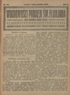 Wiadomości Parafji Św. Florjana przy Kościele Serca Jezusa za Zezwoleniem Władzy Duchownej Królowi Wieków Nieśmiertelnemu Cześć i Chwała na Wieki Wieków!. R. 2, nr 50 (1919)