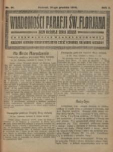 Wiadomości Parafji Św. Florjana przy Kościele Serca Jezusa za Zezwoleniem Władzy Duchownej Królowi Wieków Nieśmiertelnemu Cześć i Chwała na Wieki Wieków!. R. 2, nr 51 (1919)