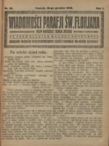 Wiadomości Parafji Św. Florjana przy Kościele Serca Jezusa za Zezwoleniem Władzy Duchownej Królowi Wieków Nieśmiertelnemu Cześć i Chwała na Wieki Wieków!. R. 2, nr 52 (1919)