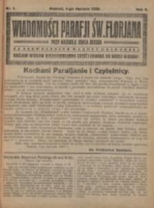 Wiadomości Parafji Świętego Florjana przy Kościele Serca Jezusa za Zezwoleniem Władzy Duchownej Królowi Wieków Nieśmiertelnemu Cześć i Chwała na Wieki Wieków!. R. 3, nr 1 (1920)