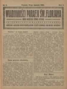 Wiadomości Parafji Świętego Florjana przy Kościele Serca Jezusa za Zezwoleniem Władzy Duchownej Królowi Wieków Nieśmiertelnemu Cześć i Chwała na Wieki Wieków!. R. 3, nr 2 (1920)