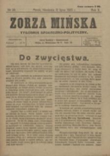 Zorza Mińska. R.2, nr 28 (1920)