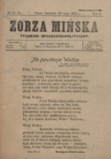 Zorza Mińska. R.2, nr 21/22 (1920)