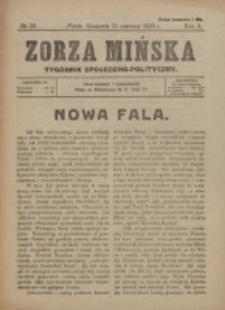 Zorza Mińska. R.2, nr 24 (1920)