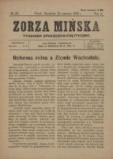 Zorza Mińska. R.2, nr 25 (1920)