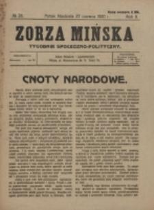 Zorza Mińska. R.2, nr 26 (1920)