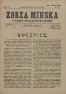 Zorza Mińska. R.2, nr 27 (1920)