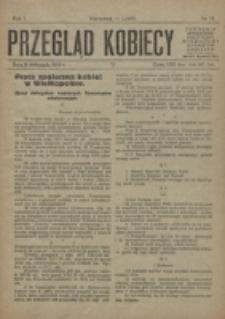 Przegląd Kobiecy. R. 1, nr 14 (1919)