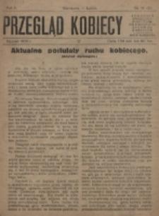 Przegląd Kobiecy. R. 1, nr 19/20 (1919)